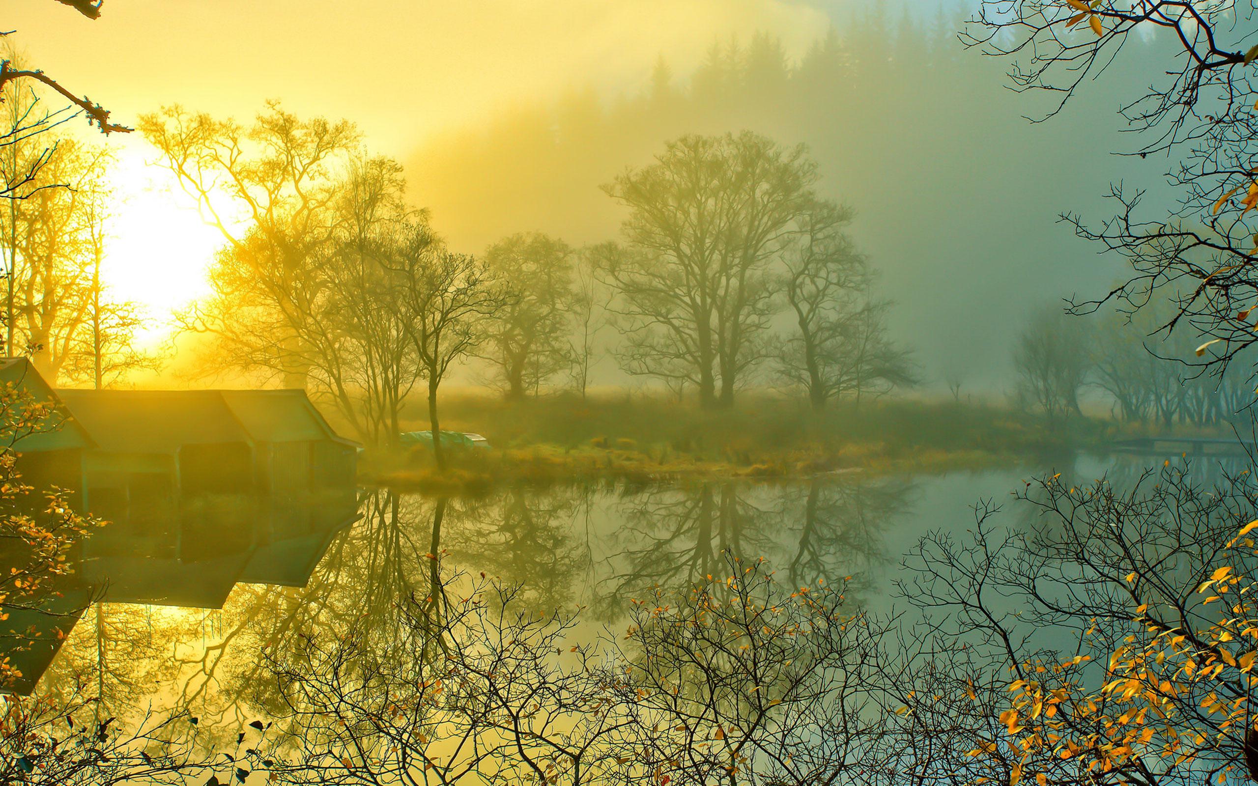 山水落日雾